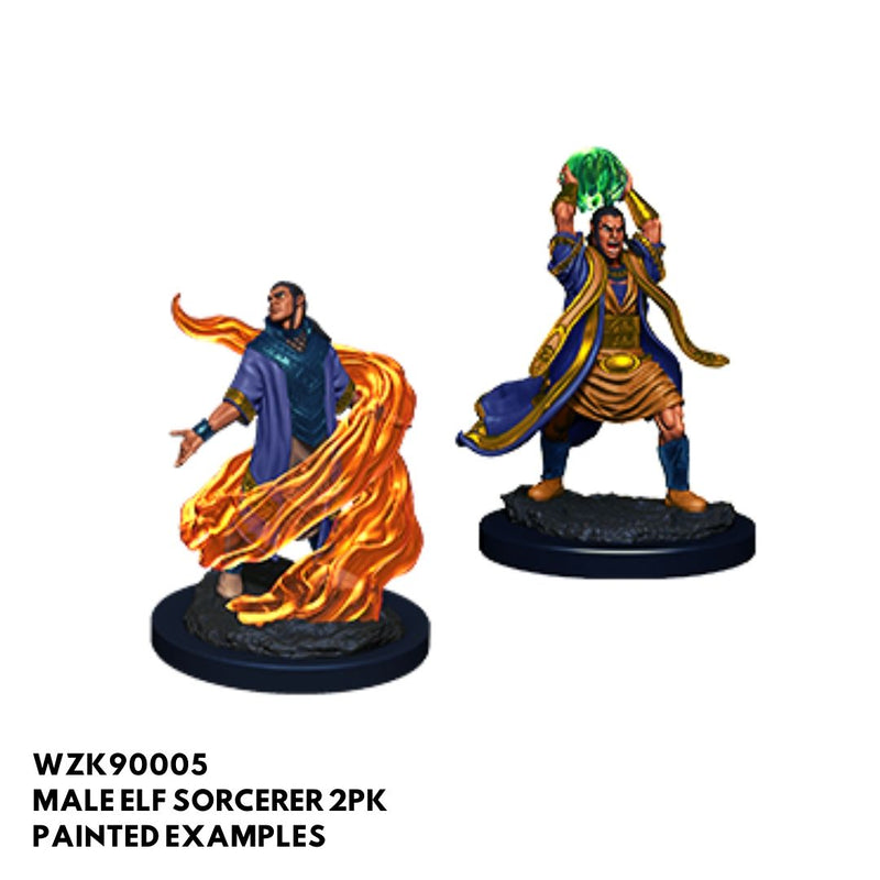 d&d miniatures - male elf sorcerer