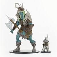 Frost Giant with axe & Lai Antonio - D&D Pre Painted Miniatures