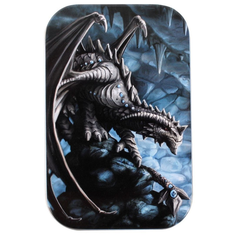 DnD Dice - Dice Box - Age of Dragons Dice Tin Black Dragon