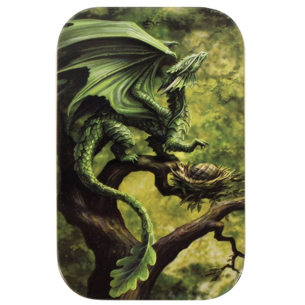 AD56516 Age of Dragons: Forest Dragon Metal Tin - Lid