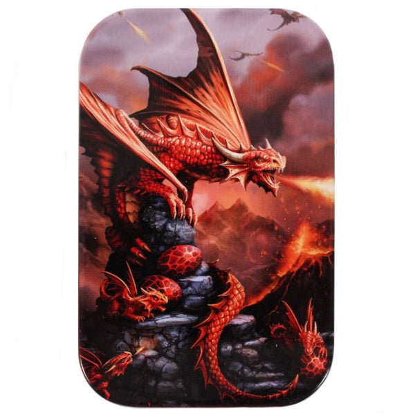 Dice Box - Spirit of Equinox - Age of Dragons: Fire Dragon Metal Tin - Lid
