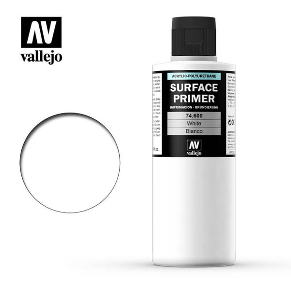 Vallejo #AV74600 Surface Primer White 200 ml 1pk - Product