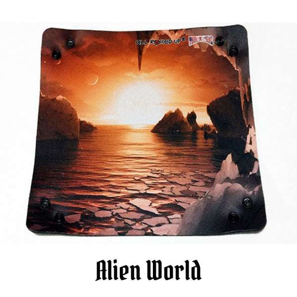 All Rolled Up UK - Alien World - Square Dice Tray 1pc (Neoprene) - Laid flat