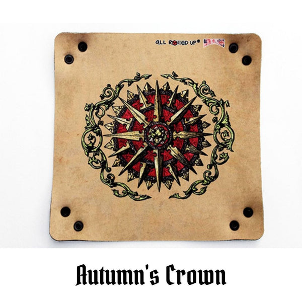 All Rolled Up UK - Autumn's Crown - Square Dice Tray 1pc - laid flat