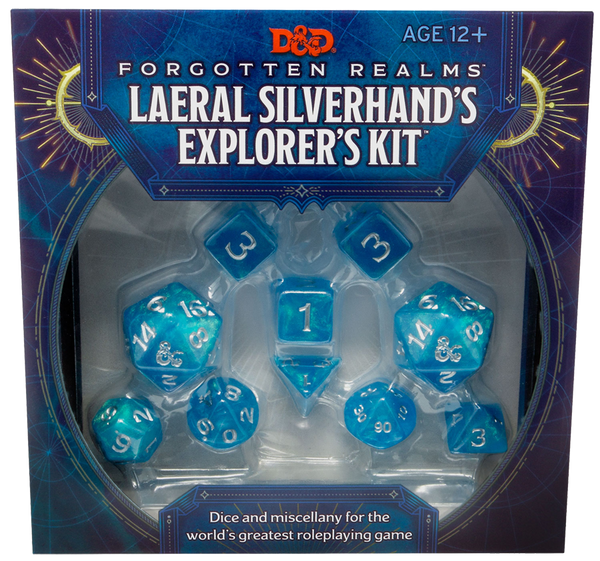 D&D Dice Set - Forgotten Realms Laeral Silverhands' Explorers Kit