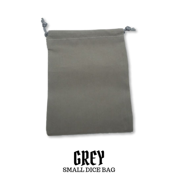 Dice Bag - Chessex - Small Suedecloth Dice Bag: Grey