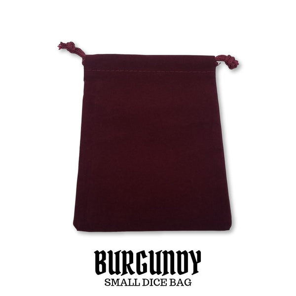 Dice Bag - Chessex - Small Suedecloth Dice Bag: Burgundy