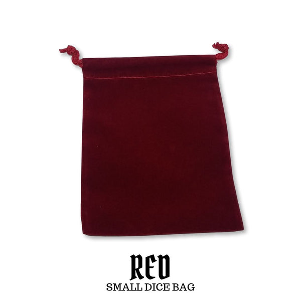 Dice Bag - Chessex - Small Suedecloth Dice Bag: Red