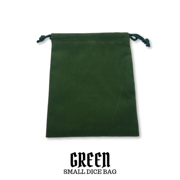 Chessex - Small Suedecloth Dice Bag: Green