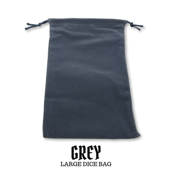 Dice Bag - Chessex - Large Suedecloth Dice Bag: Grey