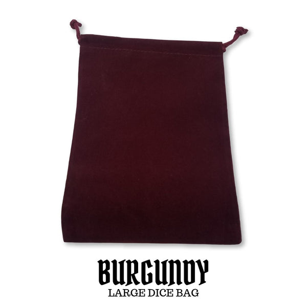 Dice Bag - Chessex #02393 Large Suedecloth Dice Bag: Burgundy 1pc