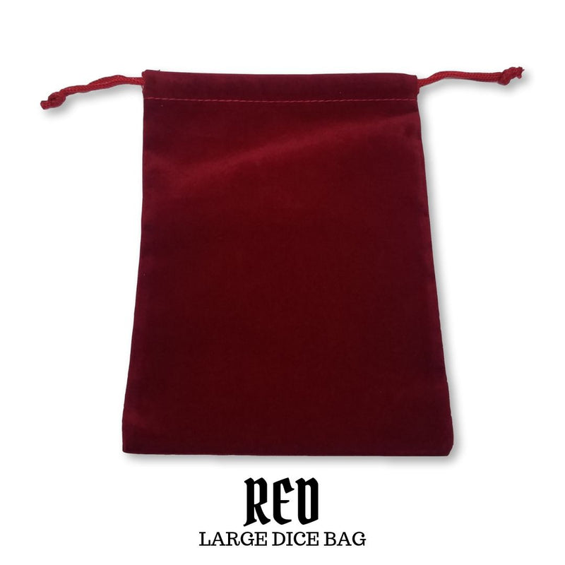 Dice Bag - Large Suedecloth Dice Bag: Red