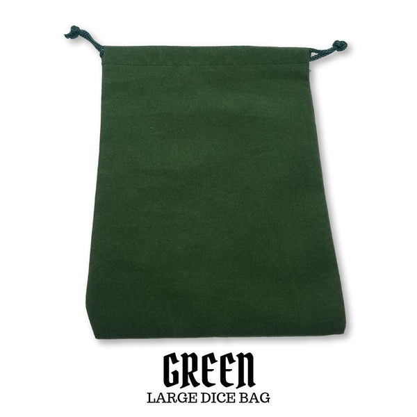 Dice Bags - Chessex - Large Suedecloth Dice Bag: Green