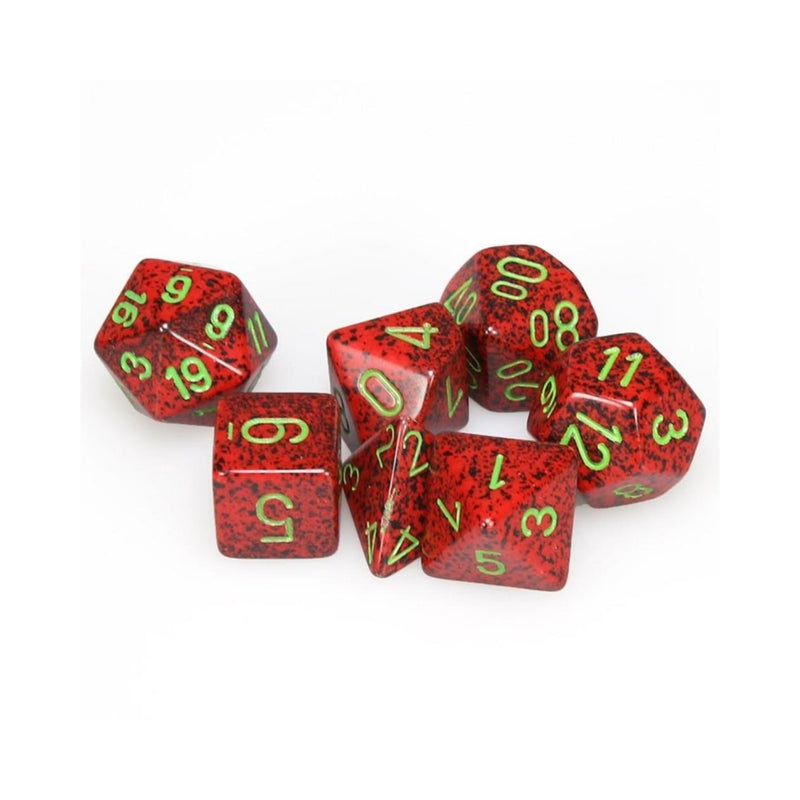D&D Dice Set - Chessex - Speckled Strawberry