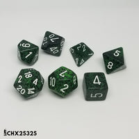 Speckled Recon w/ White Lettering 7-Die Set  ||  Chessex Dice