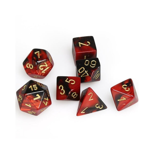 RPG Dice - Chessex - Gemini Black-Red
