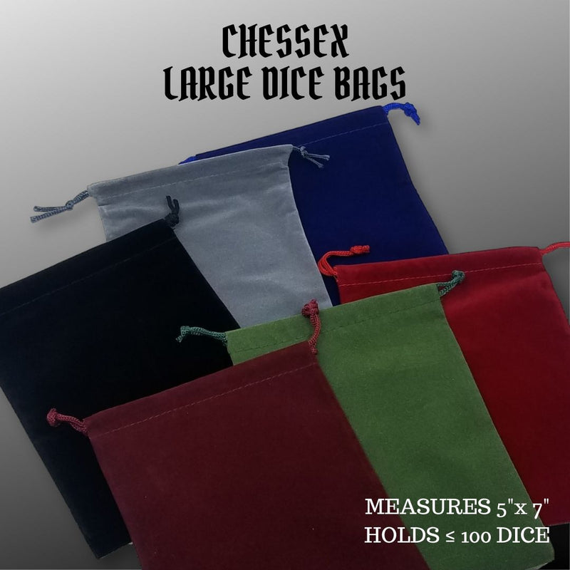 DiceBag - Chessex - assorted colors