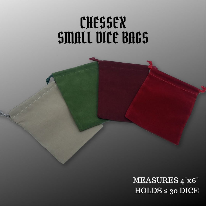 DiceBag - Chessex Small Suedecloth Dice Bags - assorted colours