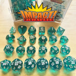 RPG Dice - Dice of Unusual Size - Translucent Teal