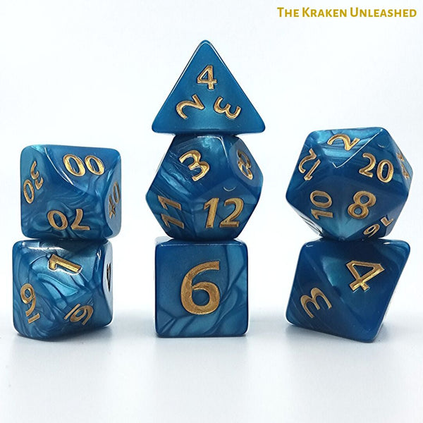 RPG Dice - Dice Hub - The Kraken Unleashed - Giant 7-Die Set
