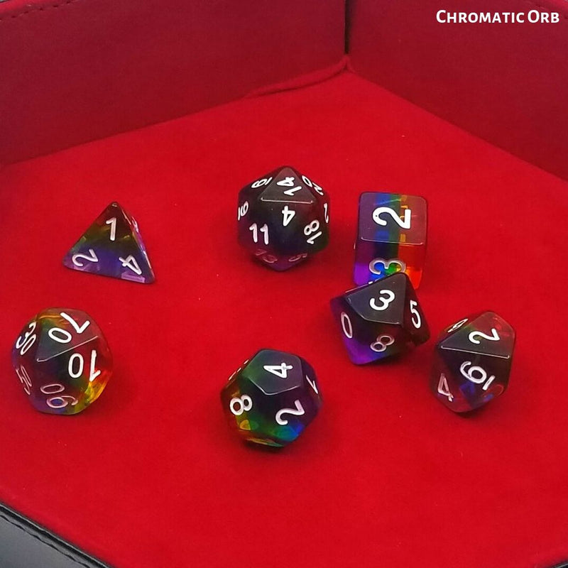 Dungeons and Dragons Dice - Dice Hub - Chromatic Orb - Standard 7-Die Set