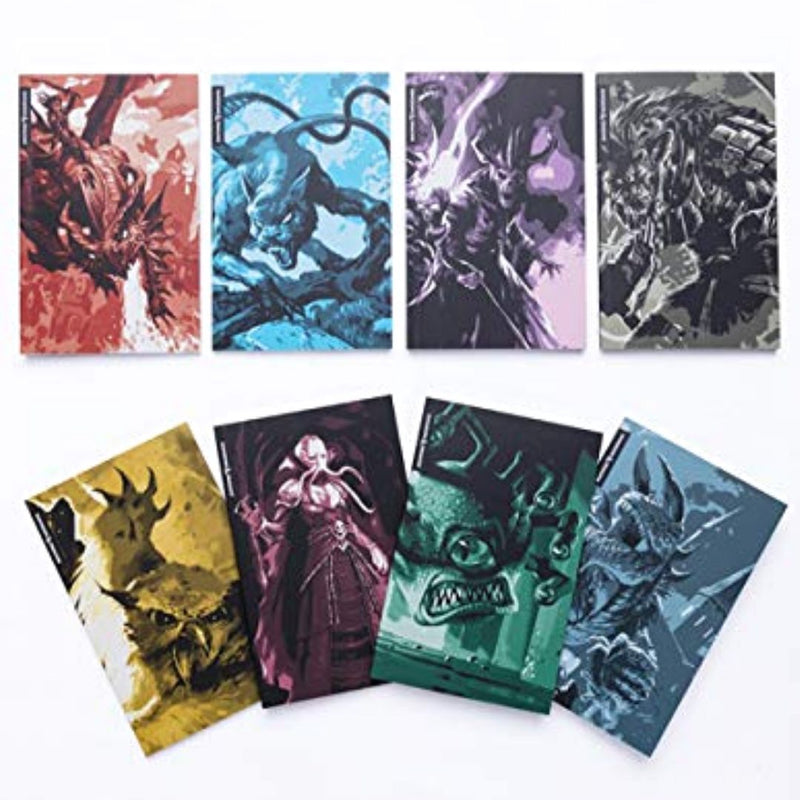 D&D Bestiary Mini-Notebook Set - Covers of Mini-Notebooks