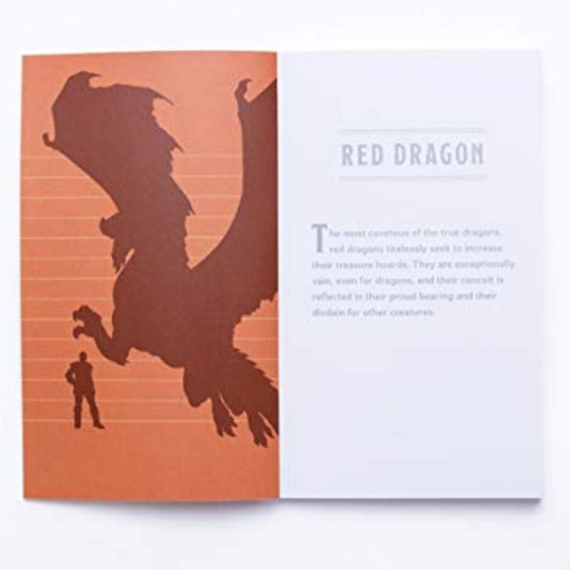 D&D Bestiary Mini-Notebook Set - Red Dragon Licensed Book