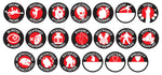 D&D Character Token Set 20pk + Chara Combat Tile  ||  D&D Dungeon Master Accessories