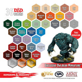 D&D Paint Set - Exclusive Owlbear miniature