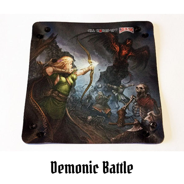 Demonic Battle - Square Dice Tray 1pc  ||  All Rolled Up™