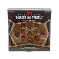 D&D Dice Sets - Baldurs Gate Descent Into Avernus Dice Set - Front Lid
