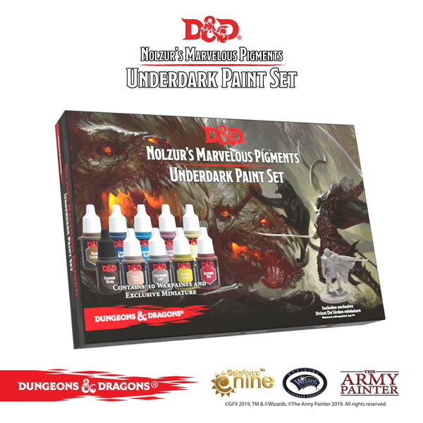 Army Painter #75004 D&D Nolzurs Marvelous Pigments Monster Paint Set - Boxed Set