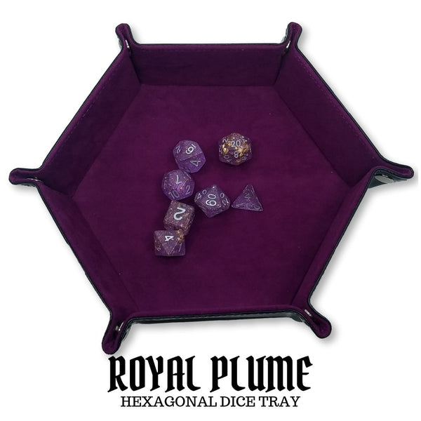 Royal Plume (Plum) - Hexagonal Dice Tray 1pc  ||  Dice Hub: Click clacks & more!