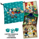 dice bag - kitten themed dnd gift set