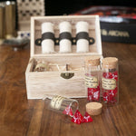 DnD Dice - Large Potion of Healing Set (4 vials) - Vials in front of open chest