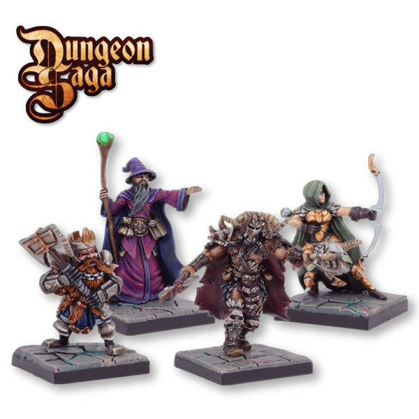 Mantic Games #MGDS16 Dungeon Saga: Legendary Heroes of Dolgarth 4pk - Painted Examples