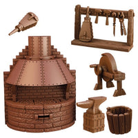 MGTC122-10 TerrainCrate Blacksmiths Forge 6pk - Unpainted