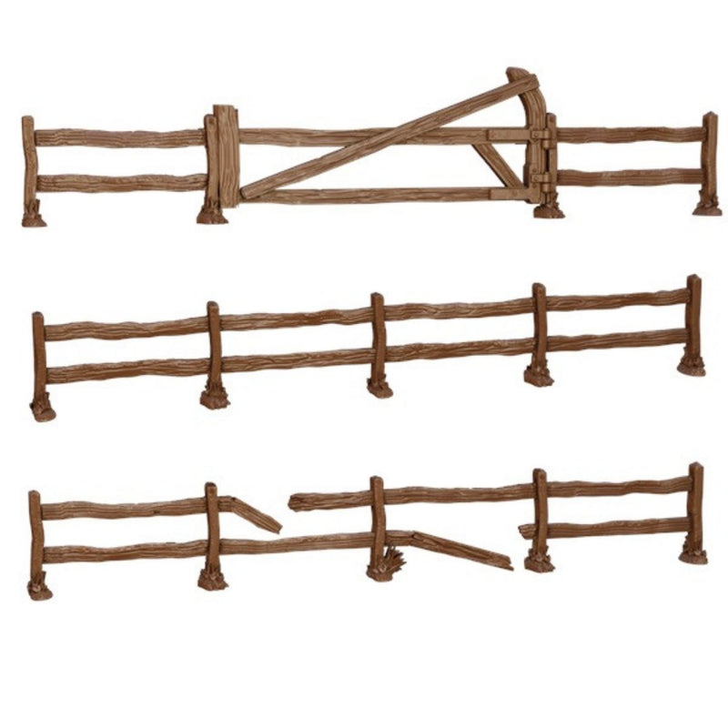 MGTC128-10 TerrainCrate Wooden Fences (Pack of 3) - Unpainted