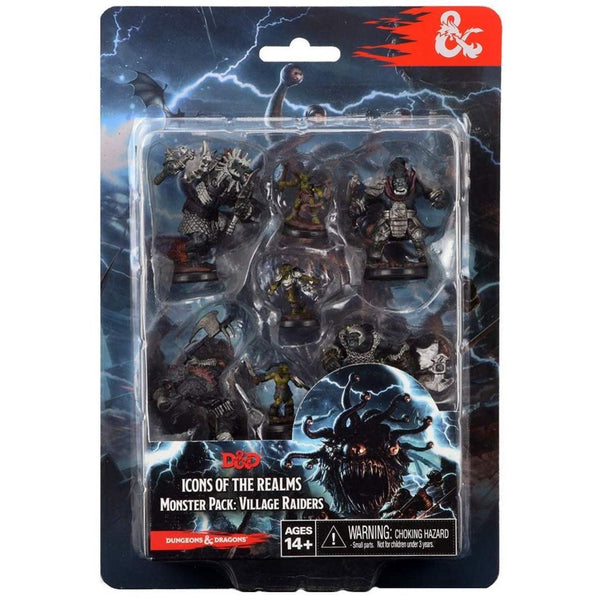 D&D Minis - Monster Pack Village Raiders 7pk - Front