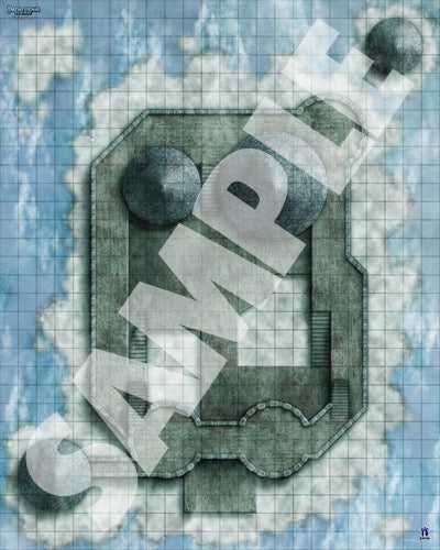 d&d battlemap - plane of air - cloud castle