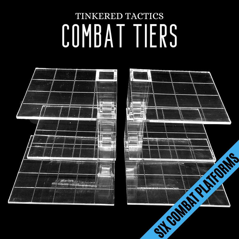 TTLCT001 Combat Tiers Base Set 10pk - Six combat platforms