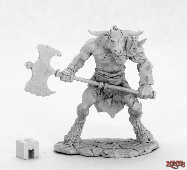 Reaper Miniatures - Minotaur with Axe - Unpainted