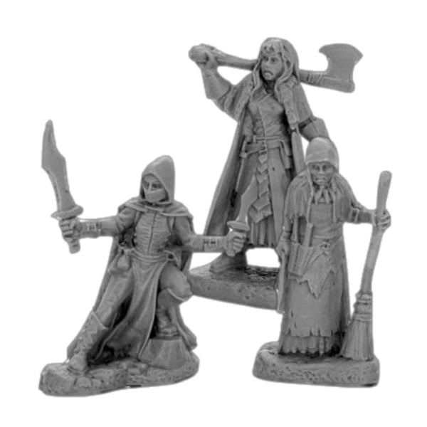 Reaper Bones Black #44036 Women of Dreadmere 3pk - Unpainted Miniatures
