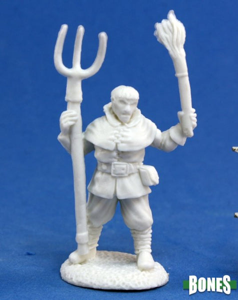 77140 Townsfolk: Village Rioter 1pk - Unpainted mini
