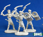 Mummy Warrior w/ Khopesh & Shield 3pk  ||  Bones  ||  Unpainted PVC