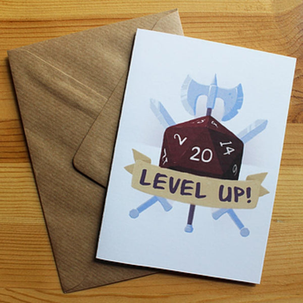 Greeting Card - Level Up! Birthday - DND Australia