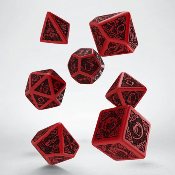 qworkshop dnd dice - celtic red and black