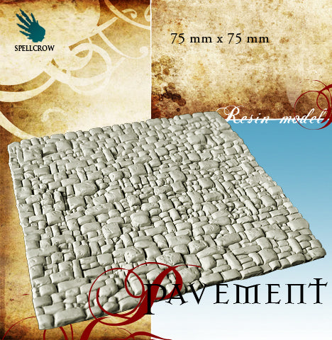 Pavement (75mm x 75mm) 1pk  ||  SPELLCROW: Terrain / Scenery - Unpainted Resin