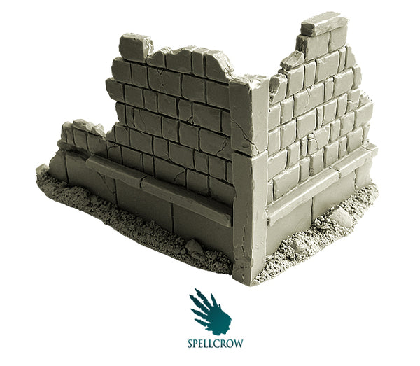 SPCH0027 Ruined Building 2pk  ||  SPELLCROW: Terrain / Scenery - Unpainted Resin