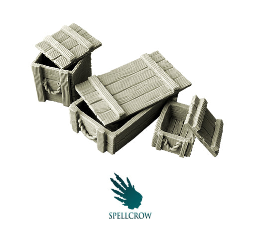 Spellcrow Crates or Boxes - unpainted